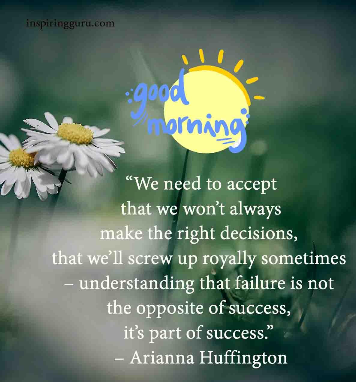 Good Morning inspiring guru