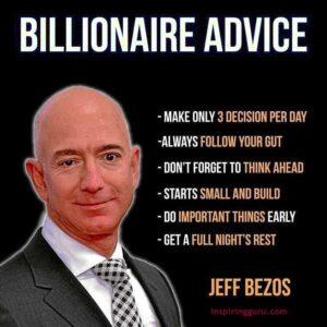 billionaire advice