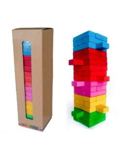 tacking and Balancing Block Toys with Dices