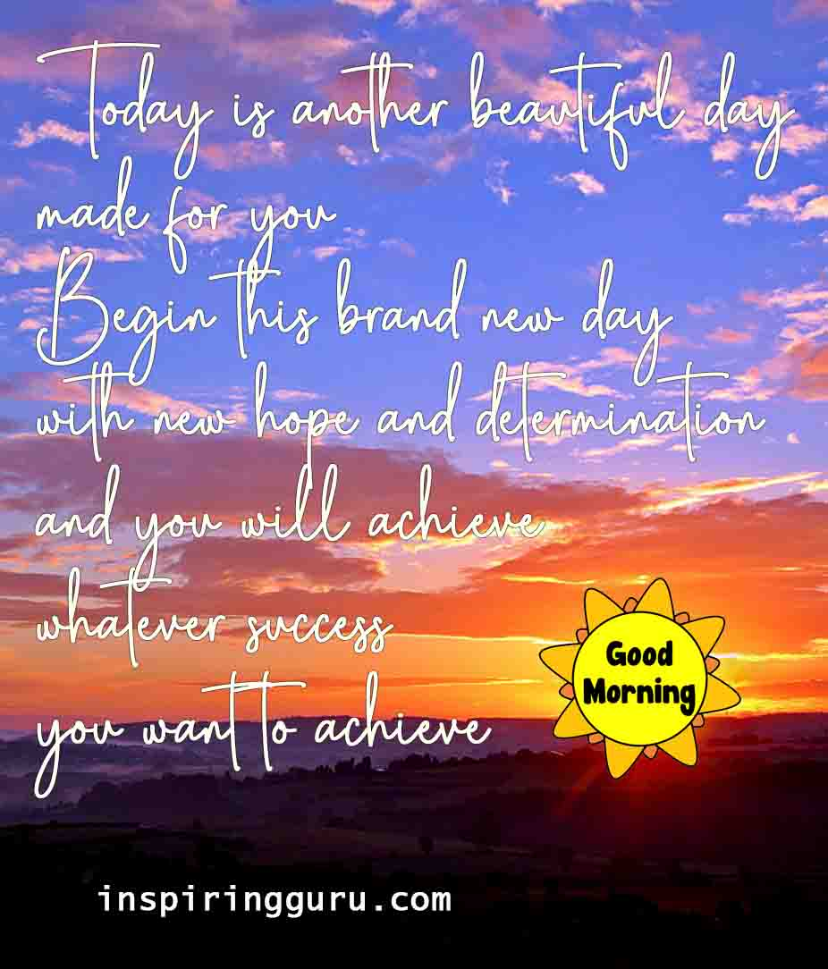 today is another beautiful day